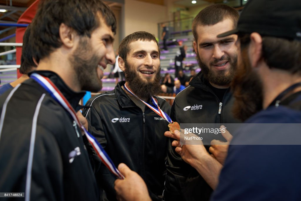 Members of the TOAC Wrestling Clubcongratulate for the medals won et the FSGT World Championship. On 1st September 2017 in Clermond-Ferrand, France.