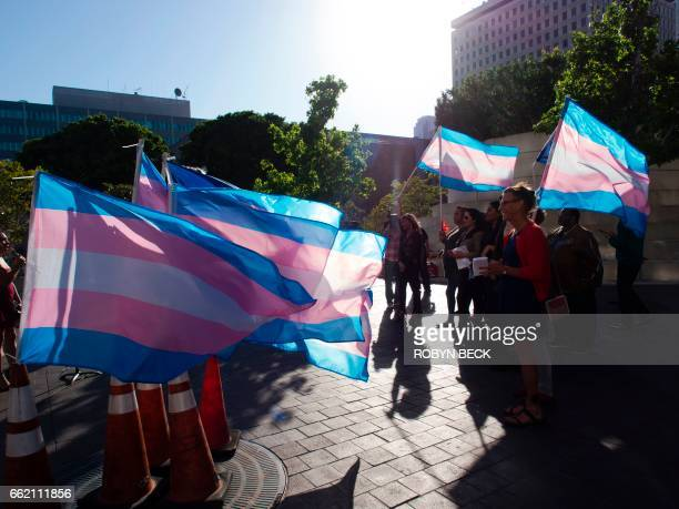 Members of the transgender and gender nonbinary community and their allies gather to celebrate International Transgender Day of Visibility March 31...