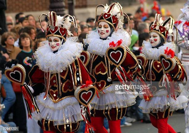 Members of the Trilby String Band perform during the 2007 Mummers Parade January 6 2007 in Philadelphia Pennsylvania Thousands came to watch the...
