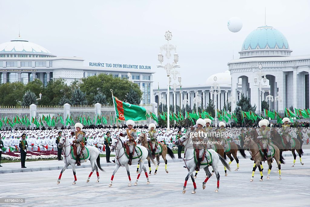 Turkmenistan Celebrates 23rd Anniversary Of Independence : ニュース写真