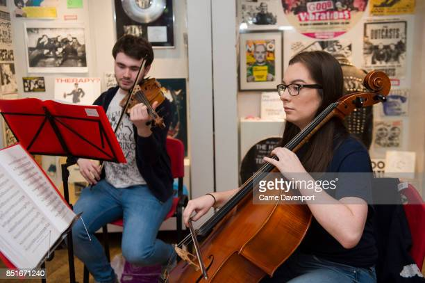 Members of the Ulster Youth Orchestra perform at the Oh Yeah Music Centre during Culture Night Belfast on September 22 2017 in Belfast Northern...