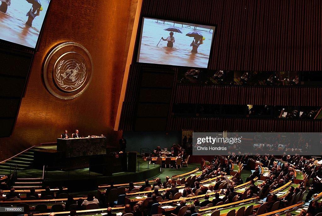 UN Hosts High-Level Climate Change Meeting : News Photo