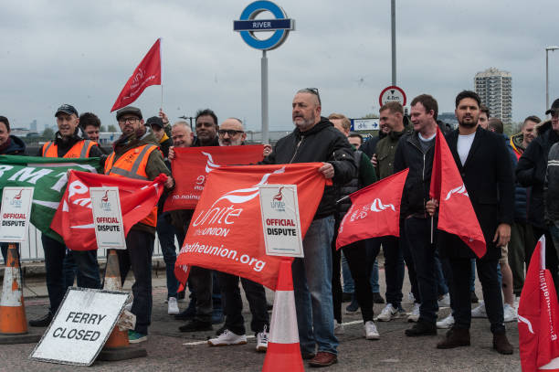 GBR: Woolwich Ferry Service Brough To A Halt By Strike