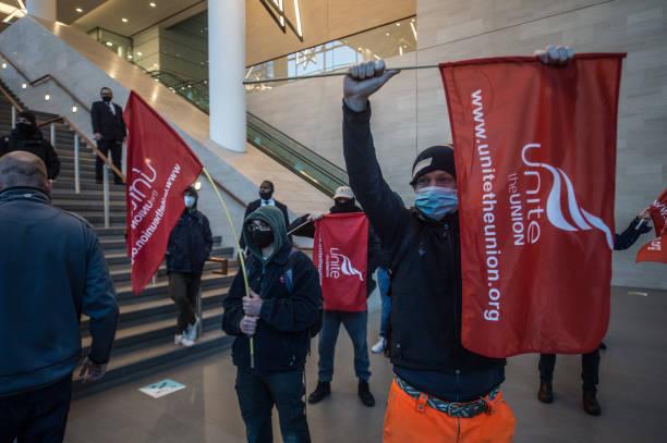 GBR: UNITE Trade Union Members Protest Hinkley Point Deskilling