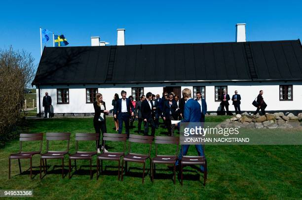 Members of the United Nations Security Council arrive for a group photo during the annual informal working meeting with the UN Security Council on...