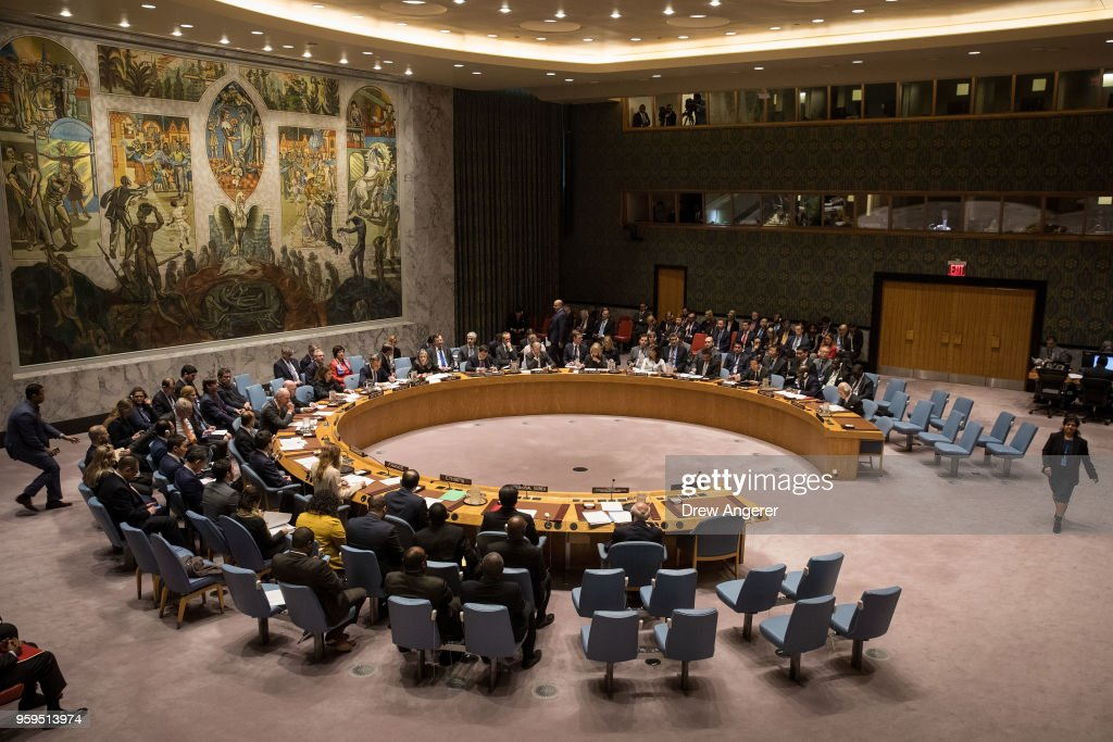 Poland's President Chairs A Meeting Of The United Nations Security Council : Nachrichtenfoto