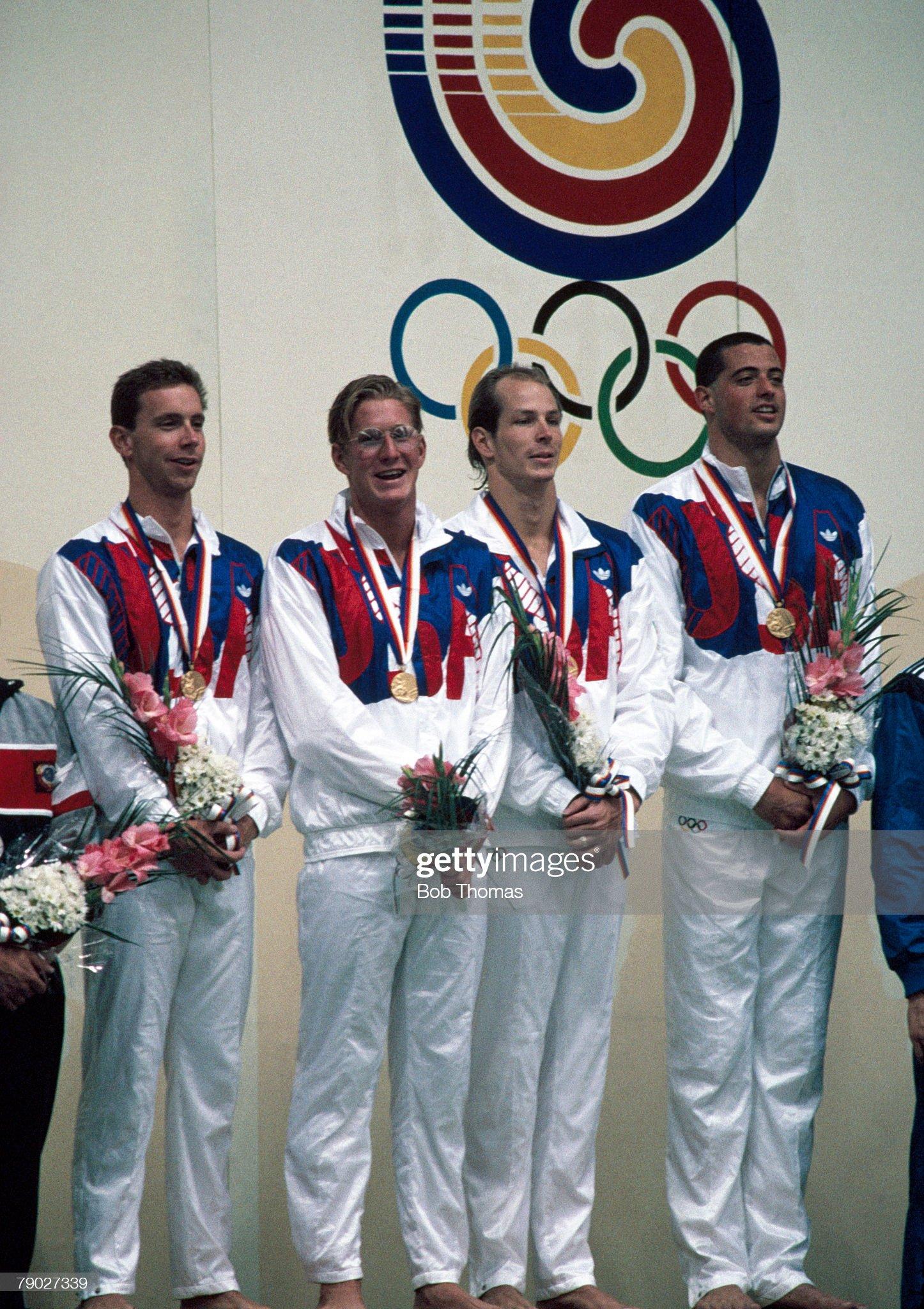 United States Swimming Team At XXIV Summer Olympics : Fotografía de noticias