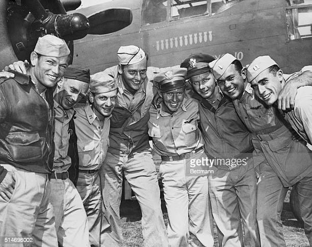 Members of the US Air Force task force that bombed Japan in April 1942