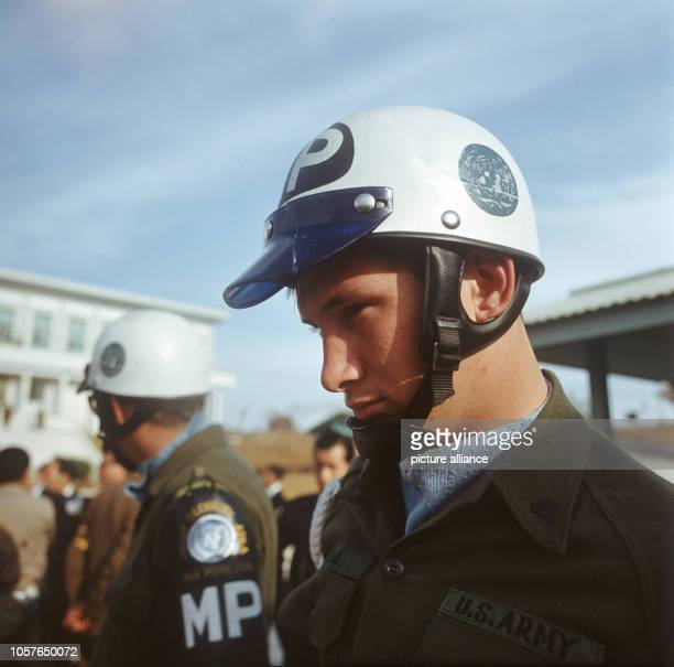 Members of the US army belonging to the Joint Security Area in Panmunjon on the the 3rd of November in 1971 Panmunjon is a military area in the...