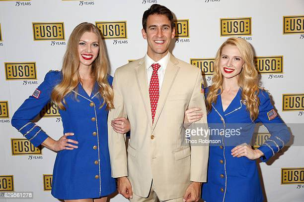 Members of the USO Show Troupe the USO 75th Anniversary Armed Forces Gala Gold Medal Dinner at Marriott Marquis Times Square on December 13 2016 in...