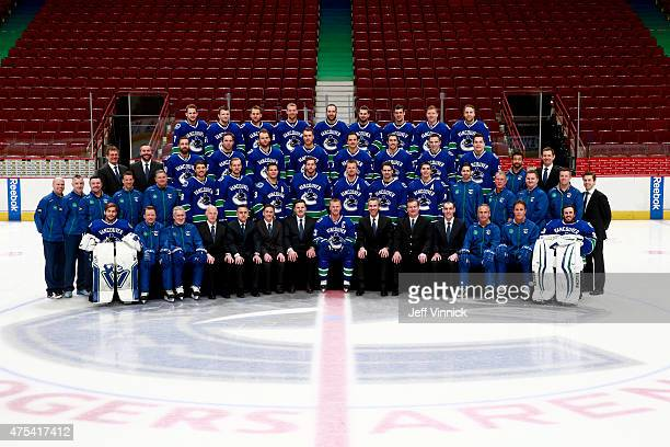 Members of the Vancouver Canucks Front Row Eddie Lack Glen Gulutzan Assistant Coach Perry Pearn Assistant coach Lorne Henning Assistant General...