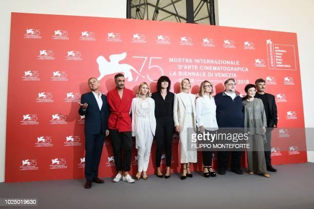 Members of the Venezia 75 competition jury AustrianGerman actor Christoph Waltz New Zealand actor and director Taika Waititi English actress Naomi...
