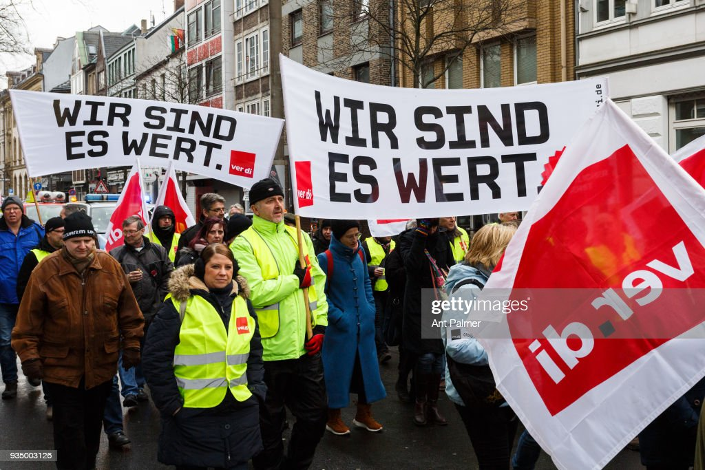Public Workers Strike In North Rhine-Westpahalia