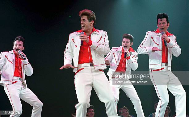 Members of the vocal group 'Human Nature' during rehearsals for the stage production of 'Happy Days The Arena Mega Musical' at the Sydney SuperDome...