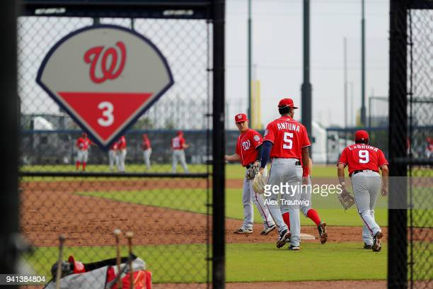 Members of the Washington Nationals organization workout on Tuesday March 20 2018 at FITTEAM Ballpark of the Palm Beaches in West Palm Beach Florida