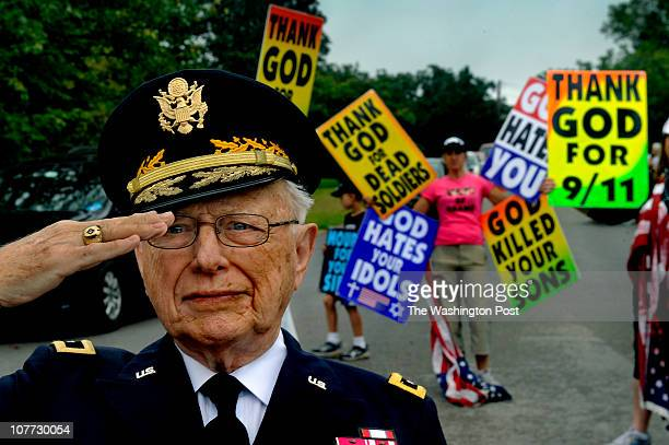 Members of the Westboro Baptist Church picketed the Memorial service for Army Staff Sgt James Ide who was killed in Afghanistan Many supporters of...