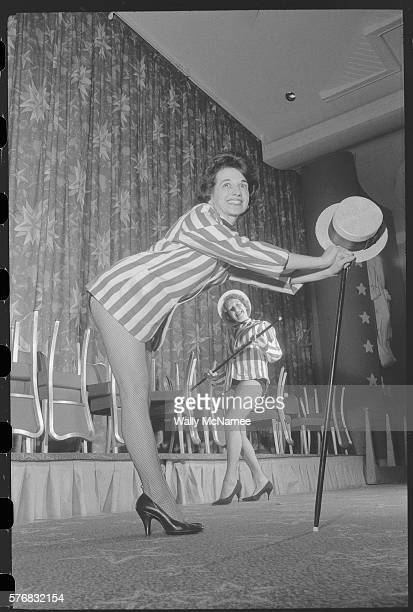 Members of the Women's National Press Club rehearse for a show to be held in conjunction with their annual dinner The women excluded from the allmale...