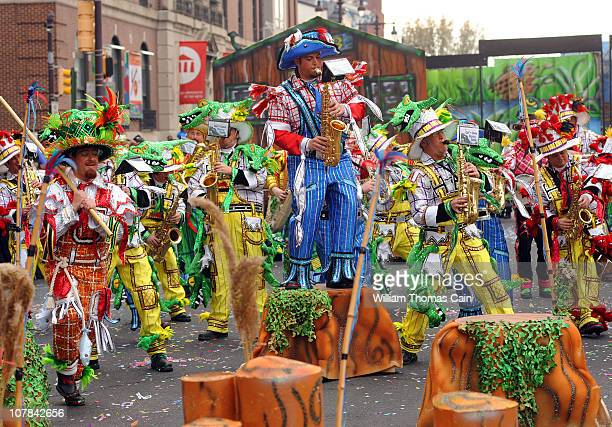 Members of the Woodland String Band perform during the 2011 Mummers Parade January 1 2011 in Philadelphia Pennsylvania Thousands of people enjoyed...