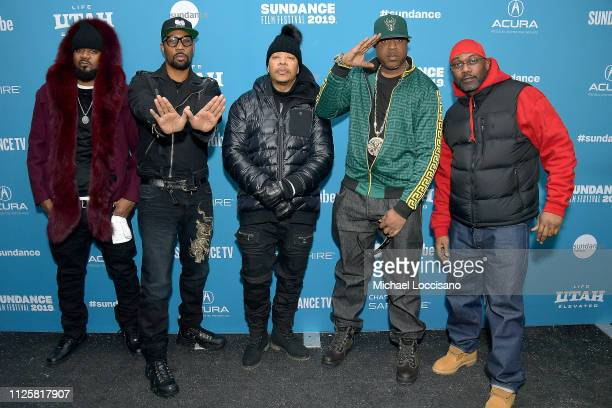 Members of the WuTang Clan Ghostface Killah RZA UGod Cappadonna and Masta Killa attend the WuTang Clan Of Mics And Men premiere during the 2019...