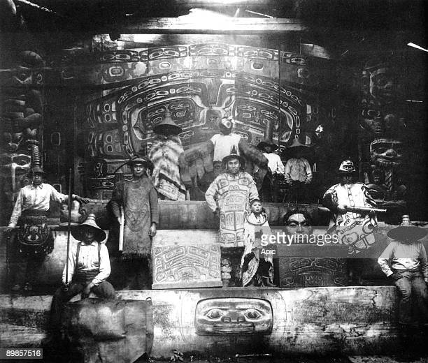 Members of Tlingit tribe in Klukwan village c 1895 cult of totem