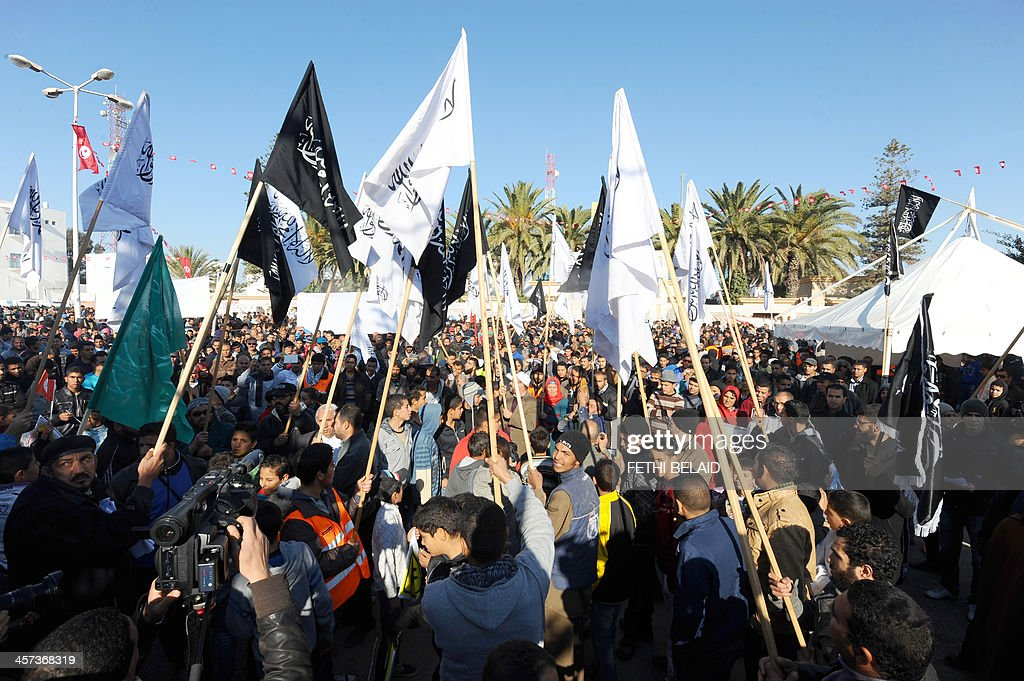 TUNISIA-POLITICS-REVOLUTION-ANNIVERSARY : News Photo