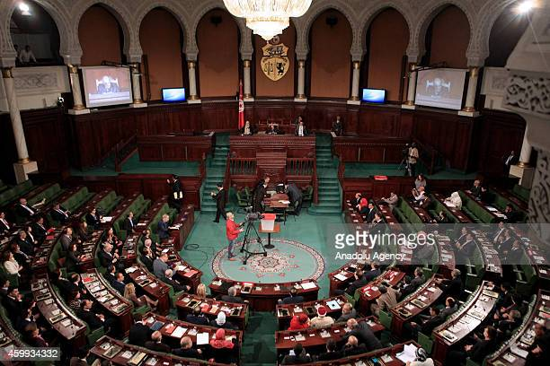 Members of Tunisian parliament who were elected last October as the first democraticallyelected legislature in the history of Tunisia attend a...
