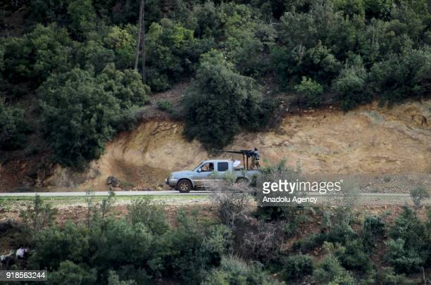 Members of Turkish military and Free Syrian Army search the Shadia village after liberating the villages of Karri Sharbanli and Shadia within the...