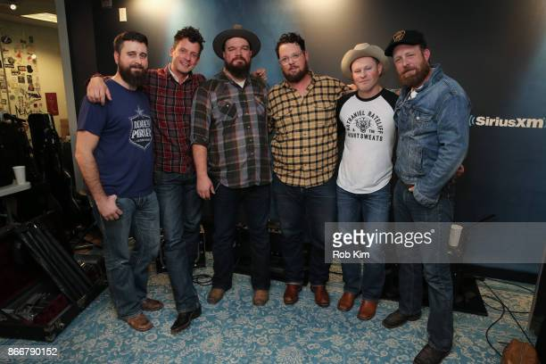 Members of Turnpike Troubadours Hank Early Evan Felker RC Edwards Gabriel Pearson Kyle Nix and Ryan Engleman visit at SiriusXM Studios on October 26...