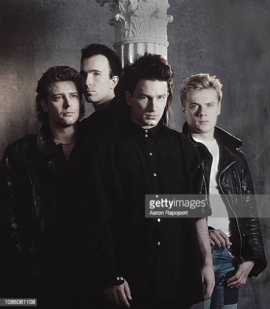 Members of U2 pose for a portrait circa 1990 in Los Angeles California