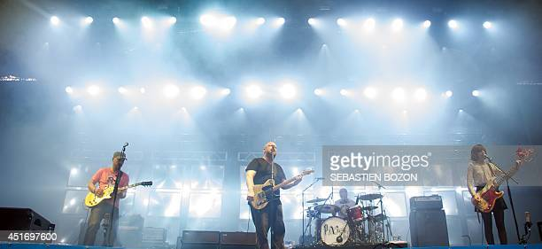 Members of US band Pixies perform on stage on July 4 at the Eurockeennes festival in the eastern French city of Belfort. AFP PHOTO/SEBASTIEN BOZON