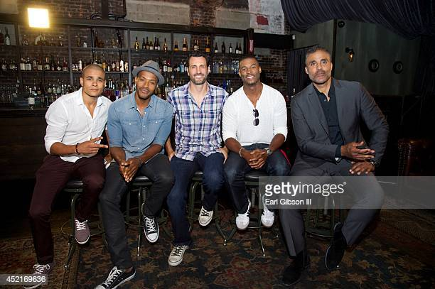 Members of VH1's 'Hit The Floor' Jonathan 'Lil J' McDaniel McKinley Freeman James LaRosa Robert Christopher Riley and Rick Fox pose for a photo at...