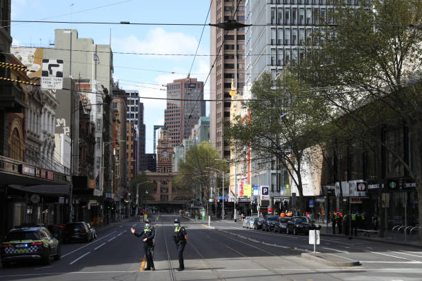 AUS: Increased Police Presence In Melbourne Ahead Of Planned Anti-Lockdown Protests