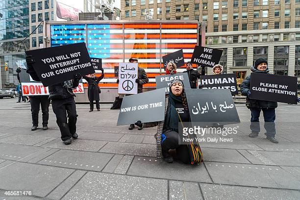 Members of We Will Not Be Silent hold rally and march urging peace with Iran during Israeli Prime Minister Benjamin NetanyahuÕs address to Congress...
