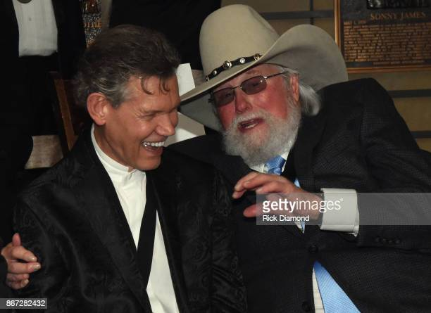 HOF members Randy Travis and Charlie Daniels attend the Country Music Hall Of Fame And Museum Hosts Medallion Ceremony To Celebrate 2017 Hall Of Fame...