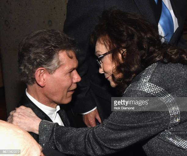 HOF members Randy Travis and Loretta Lynn attend the Country Music Hall Of Fame And Museum Hosts Medallion Ceremony To Celebrate 2017 Hall Of Fame...