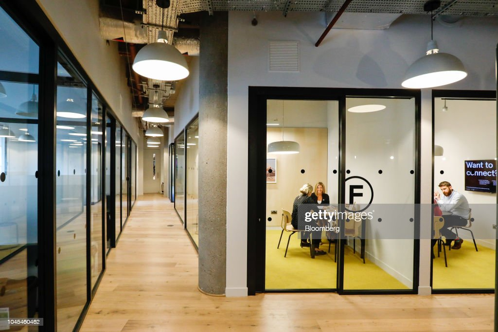 Members use meeting rooms in the WeWork Cos  co-working