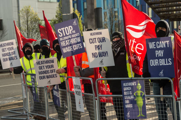 GBR: Heathrow's Unite Members Walk Out Over Wage Cuts