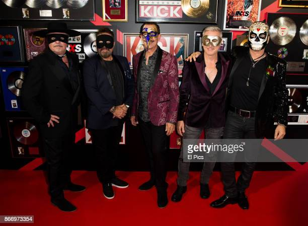 INXS membersAndrew Farriss Tim Farriss Kirk Pengilly Garry Gary Beers and Jon Farriss arrive ahead of the INXS Masquerade Party at State Theatre on...