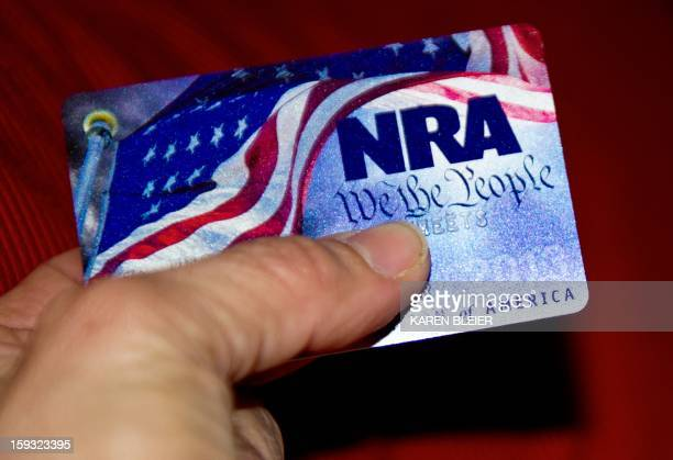 A membership card for the National Rifle Association is seen on January 10 2013 in Manassas Virginia Though the NRA unsurprisingly objected to the...