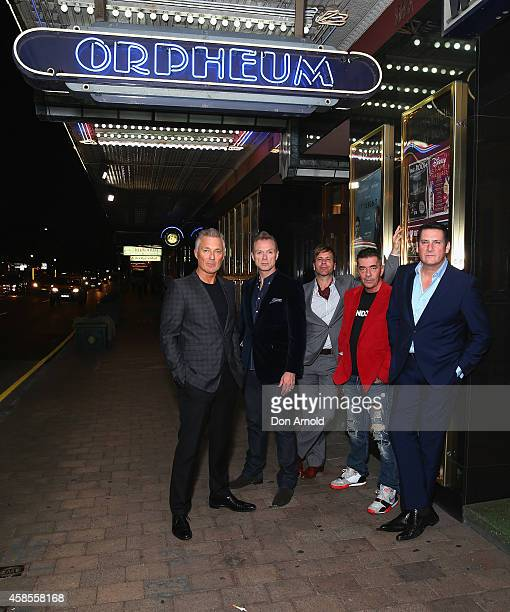 Memebers of Spandau Ballet arrive at the special screening of Soul Boys of the Western World at Hayden Orpheum on November 7 2014 in Sydney Australia