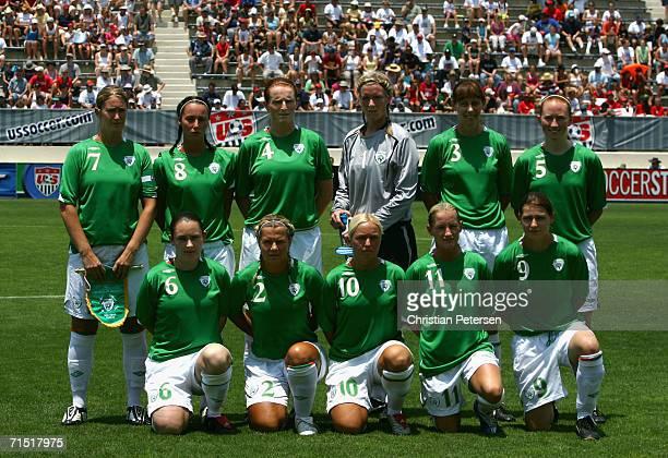 Memebers of Team Ireland Ciara Grant Denise Thomas Delores Deasley goalkeeper Emma Byrne Sharon Boyle Alisha Moran Sonya Hughes Elaine O'Connor Laura...