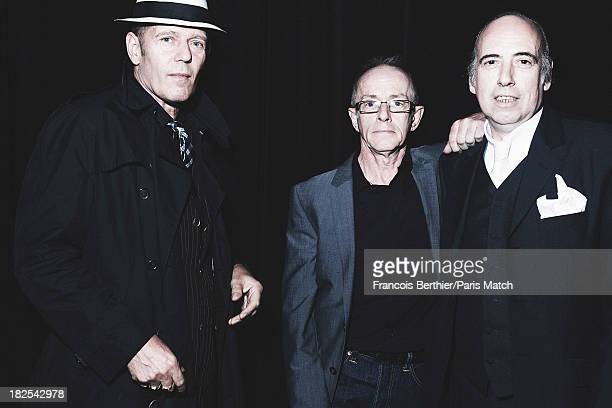 Memebers of the legendary punk band The Clash are photographed for Paris Match on September 12 2013 in Paris France