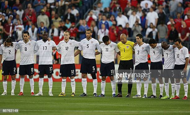 Memebers of the US National Team Frankie Hejduk Clint Dempsey Jozy Altidore Michael Bradley Oguchi Onyewu Brian Ching Tim Howard Carlos Bocanegra...
