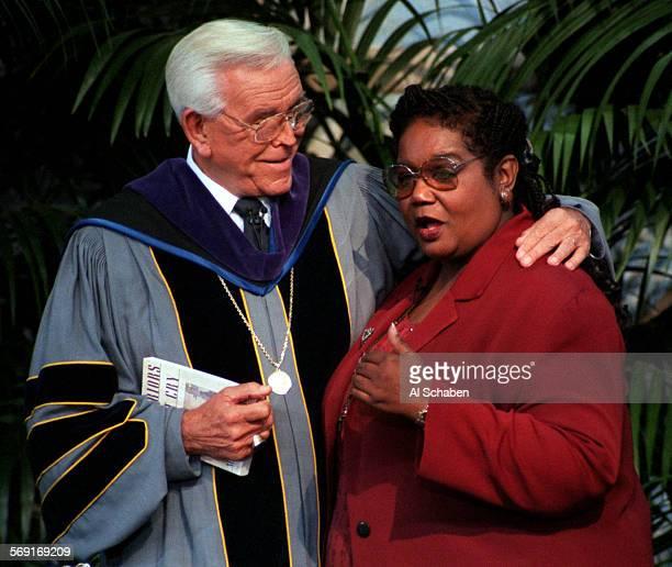 Melba.1.1109.AS––GARDEN GROVE––Rev. Robert H. Schuller interviews Melba Beals, a member of the first group of students in Arkansas to integrate the...