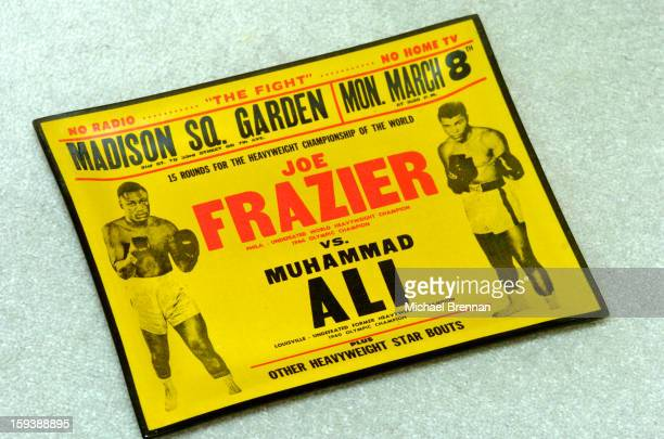 A memento from the First Muhammad Ali versus Joe Frazier fight at Madison Square Garden in New York City