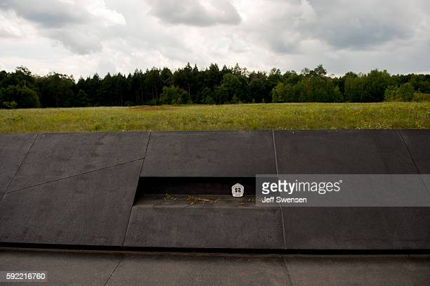 Mementos left by visitors at the Flight 93 National Memorial in Shanksville Pennsylvania on August 19 2016 American Airlines Flight 93 crashed into a...