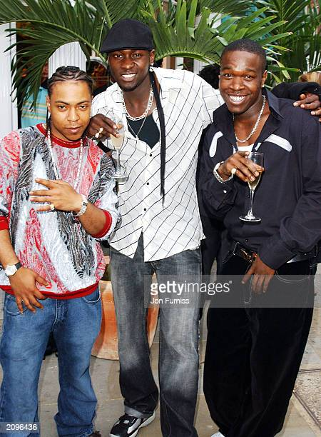 Memers of musical group Big Brovaz attend the afterparty for the opening of the new Kings Road Diesel Store on June 18 2003 at The Sheperds Bush...