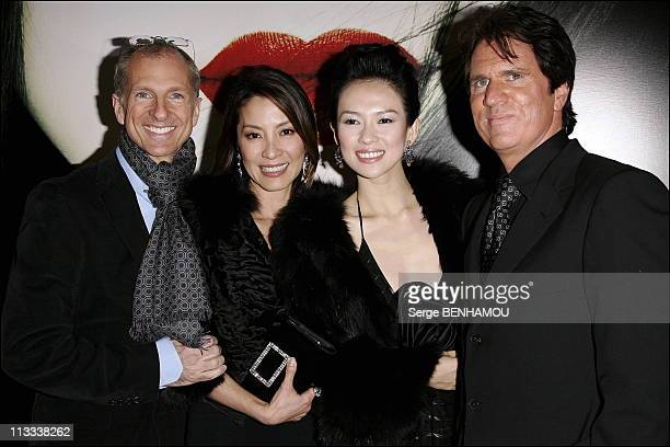 Memoires D'Une Geisha Premiere In Paris - On February 16Th, 2006 - In Paris, France - Here, John De Luca Michelle Yeoh Zhang Ziyi Bob Marshall