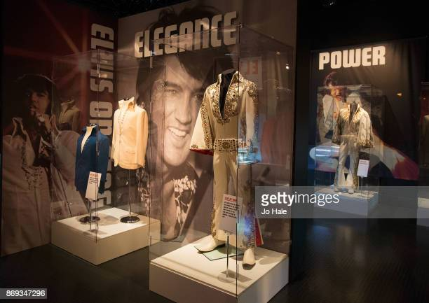 Memorabilia on display at the 'Elvis On Tour Exhibition' held at the O2 Arena on November 2 2017 in London England