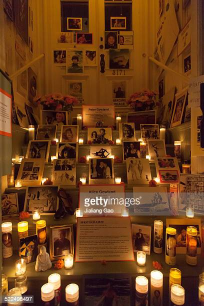 Memorial altar ser up for the Day of the Dead at Mission District San Francisco